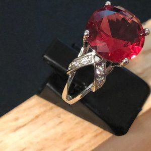 Ruby Red 925 Silver Ring